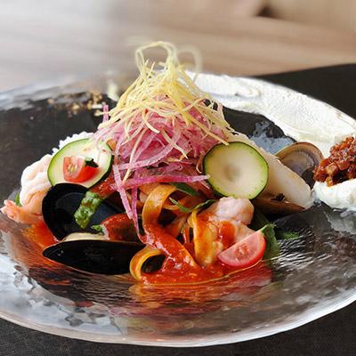 「ルーキスガーデン恵比寿」ではおしゃれな冷麺をご用意してます!